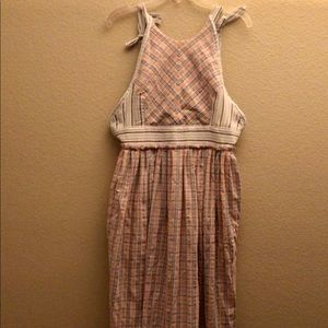 FREE PEOPLE MAXI DRESS 👗 ADORABLE PLAID PATTERN